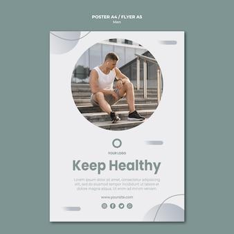 Modèle de flyer pour rester en bonne santé