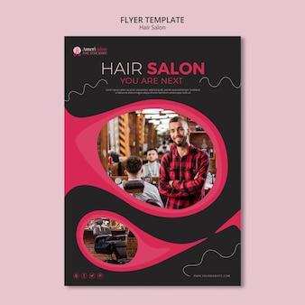Modèle de flyer pour salon de coiffure