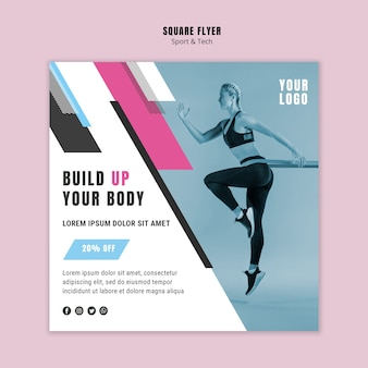 Modèle de flyer pour le sport et le fitness