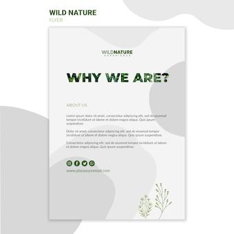 Modèle de flyer de pourquoi nous sommes la nature