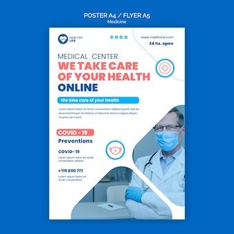 Modèle de flyer de prévention médecine covid19