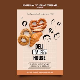 Modèle de flyer de produits de boulangerie