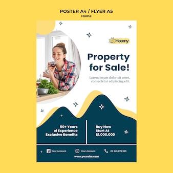 Modèle de flyer de propriété à vendre