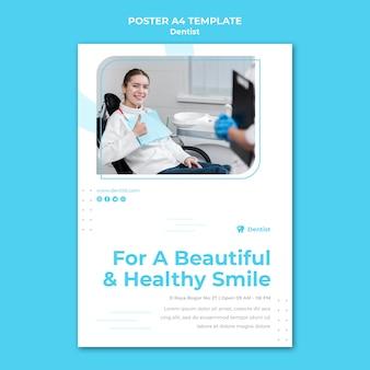 Modèle de flyer publicitaire de dentiste