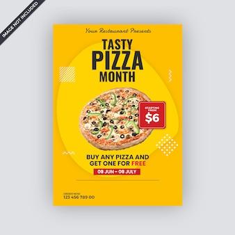 Modèle de flyer de publicité de restauration rapide