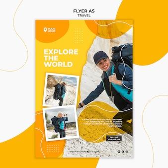 Modèle de flyer de randonnée femme