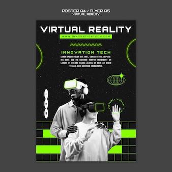 Modèle de flyer de réalité virtuelle