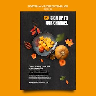 Modèle de flyer de recette d'automne