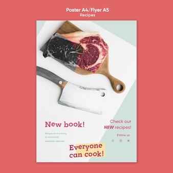 Modèle de flyer de recettes de cuisine