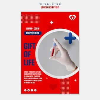 Modèle de flyer de registre de don de sang