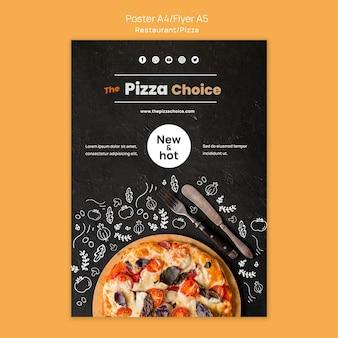 Modèle de flyer de restaurant de pizza