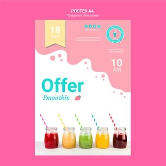 Modèle de flyer restaurant smoothie