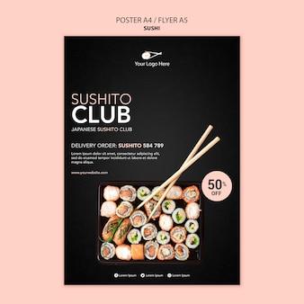 Modèle de flyer de restaurant de sushi