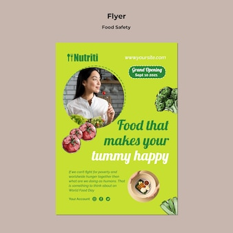 Modèle de flyer de sécurité alimentaire
