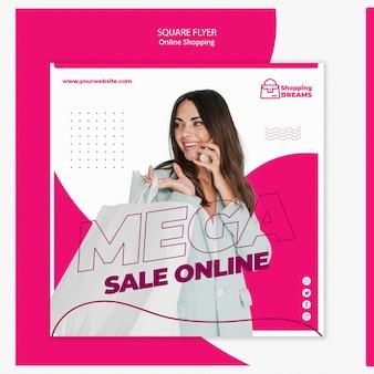 Modèle de flyer de shopping en ligne