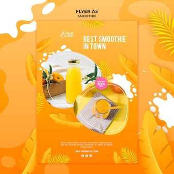 Modèle de flyer de smoothie