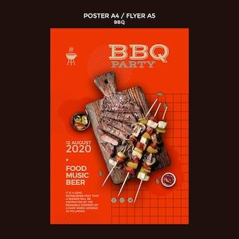 Modèle de flyer de soirée barbecue