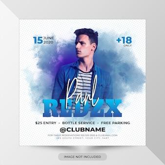 Modèle de flyer de soirée remix dj