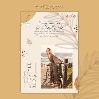 Modèle de flyer de style de vie blogger