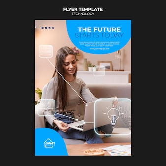 Modèle de flyer de technologie future