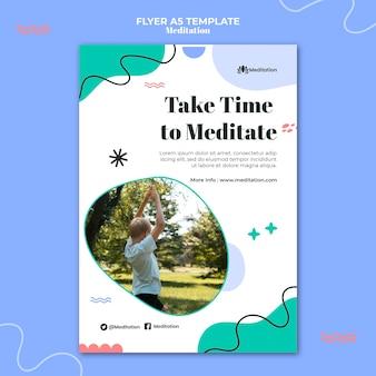 Modèle de flyer de temps de méditation