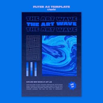 Modèle de flyer de vague d'art