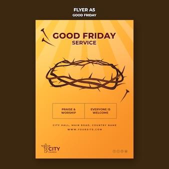 Modèle de flyer de vendredi saint