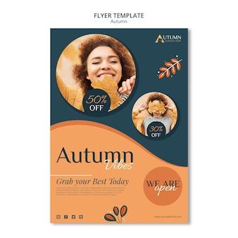 Modèle de flyer de vente d'automne