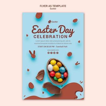 Modèle de flyer de vente de jour de pâques