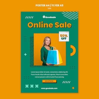 Modèle de flyer de vente en ligne