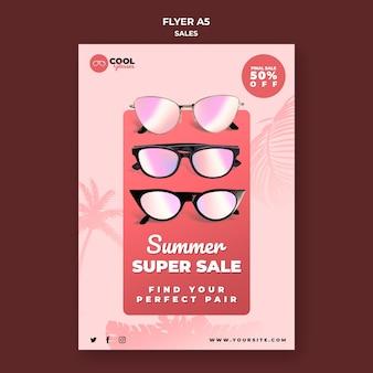 Modèle de flyer de vente de lunettes