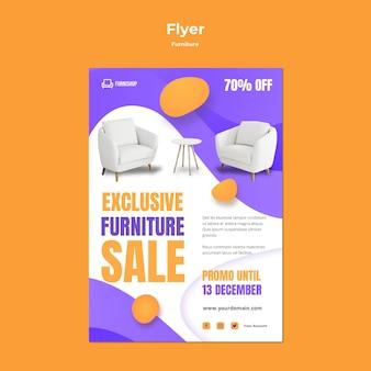 Modèle de flyer de vente de meubles