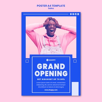 Modèle de flyer de vente outlet