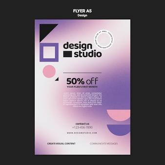 Modèle de flyer vertical géométrique pour studio de design