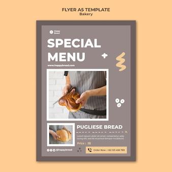 Modèle de flyer vertical pour boulangerie