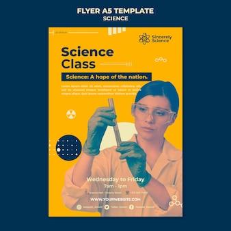 Modèle de flyer vertical pour la classe de sciences