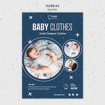 Modèle de flyer vêtements bébé