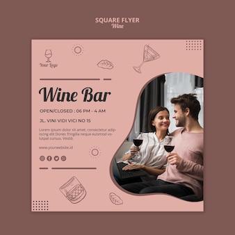 Modèle de flyer de vin