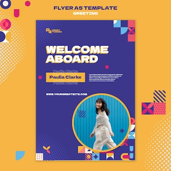 Modèle de flyer de voeux de voyage