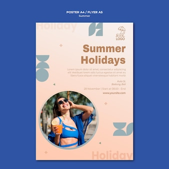 Modèle de flyer de voyage d'été