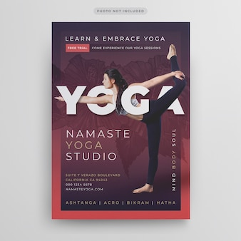 Modèle de flyer de yoga