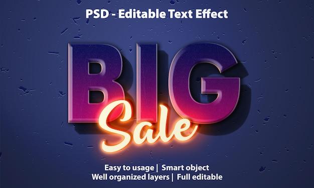 Modèle de grande vente d'effet de texte