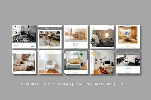 Modèle graphique de post instagram d'appartement