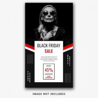 Modèle d'histoire instagram du vendredi noir