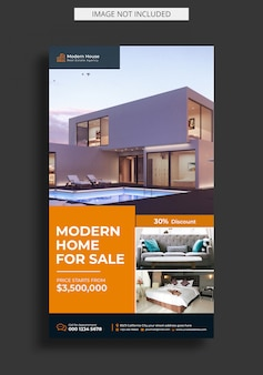 Modèle d'histoire instagram immobilier