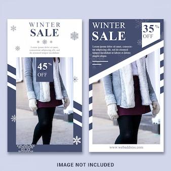 Modèle d'histoire instagram pour soldes d'hiver