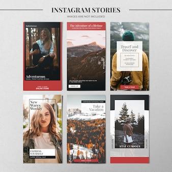 Modèle d'histoire de mode instagram