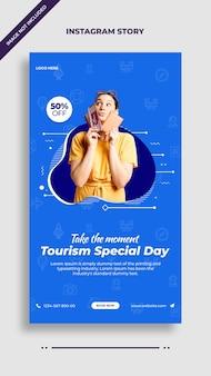 Modèle d'histoire de publication pour la journée spéciale du tourisme instagram et facebook