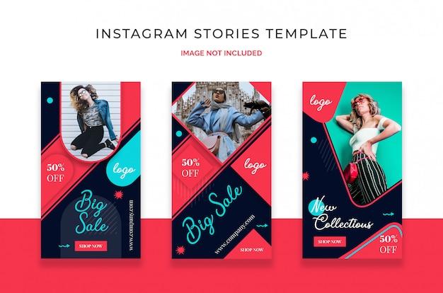 Modèle d'histoire de vente instagram