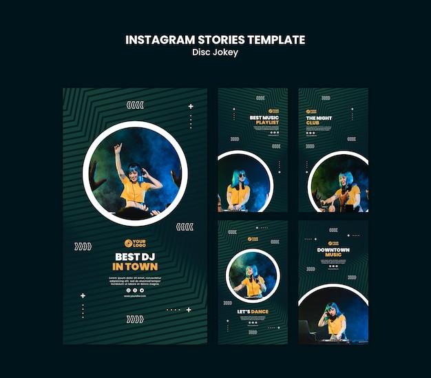 Modèle d'histoires dj instagram